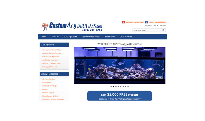 Custom Aquariums Website