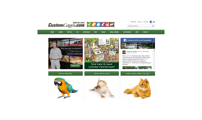 Custom Cages Website