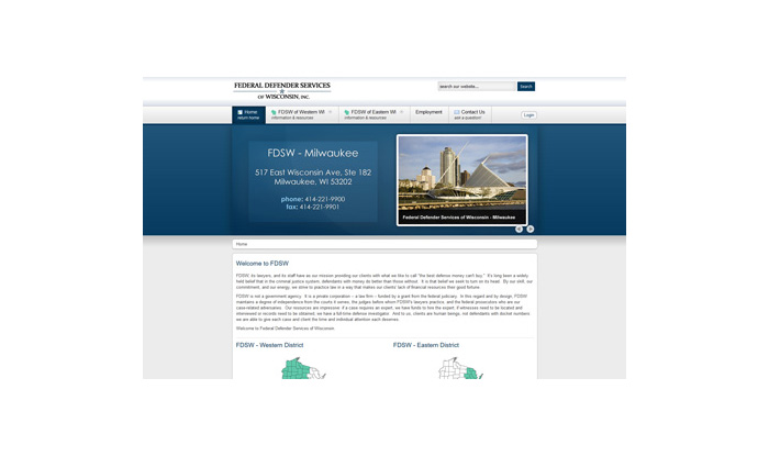 Federal Defender Services Website