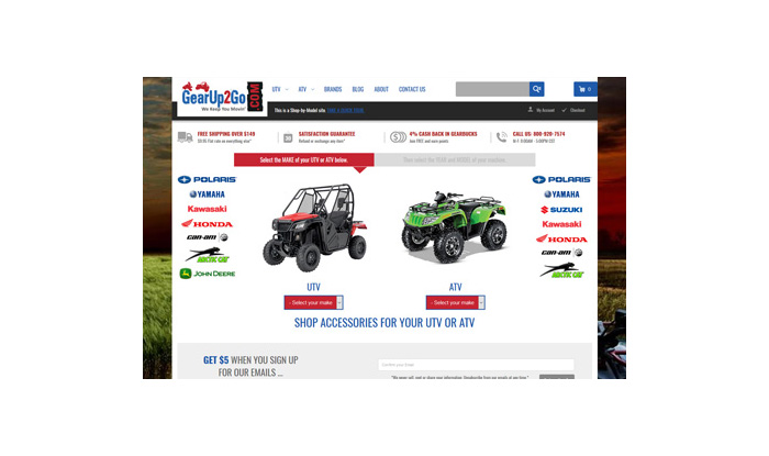 GearUp2Go Website