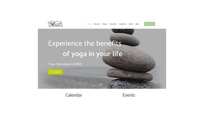 Yoga Elements Website