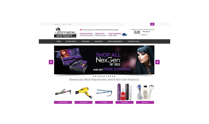 Ultimate Salon Products Website